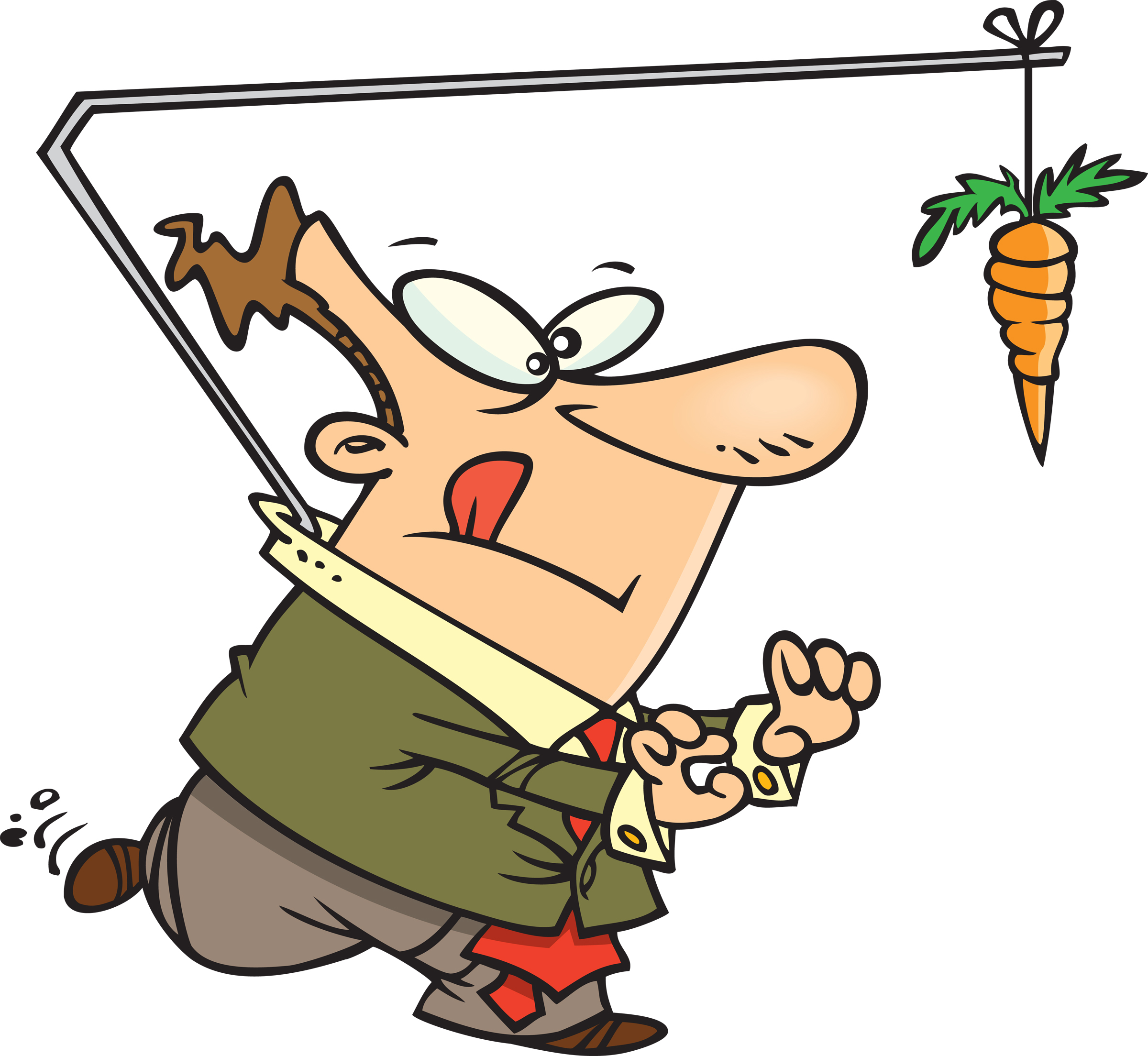 carrot on a stick image