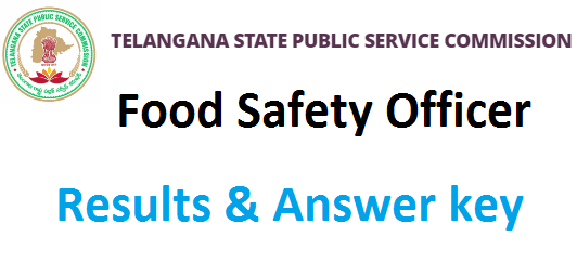 TSPSC Food Safety Officer result 2020, Cut off marks ...
