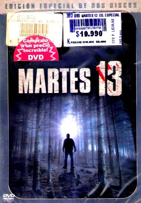 Dvd Martes 13 Viernes 13th Edicion Especial De 2 Discos 1980 - $ 8.990 en Mercado Libre