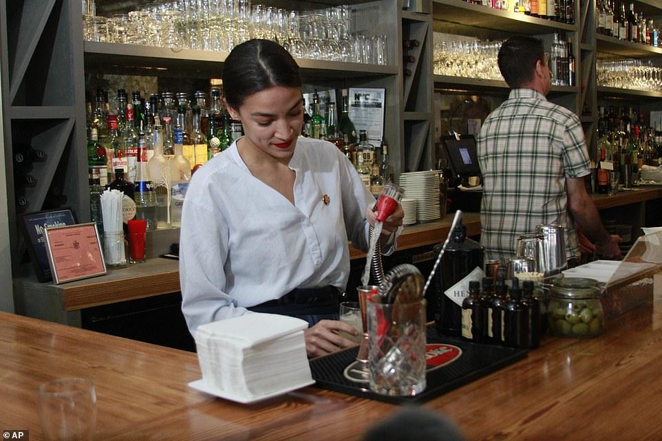 Former bartender Alexandria Ocasio-Cortez boasts she's ...