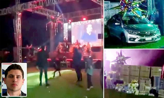 El Chapo's Son Gives Away Cars To Sinaloa Locals At Christmas Party…