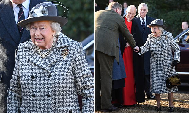 Queen makes VERY public show of support for Prince Andrew as he's seen by her side…
