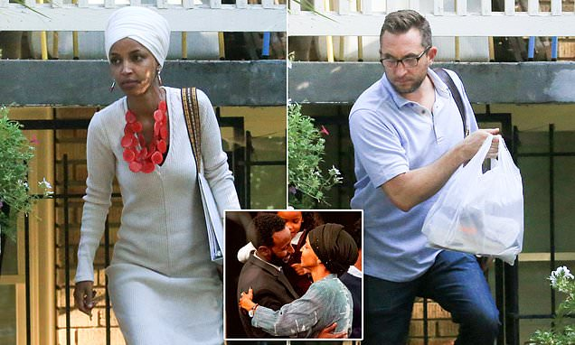 Ilhan Omar's husband discovered she was cheating on him with her chief fundraiser when he walked in on the lovers in pajamas – and now the congresswoman is paying ex $250,000 for his silence…