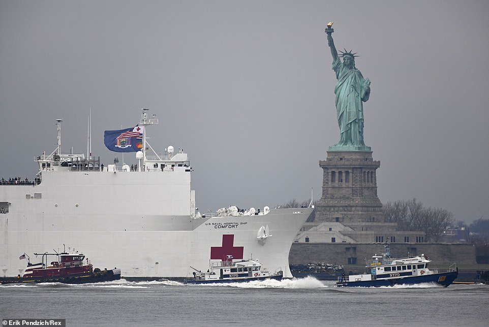 USNS Comfort arrives in New York City…