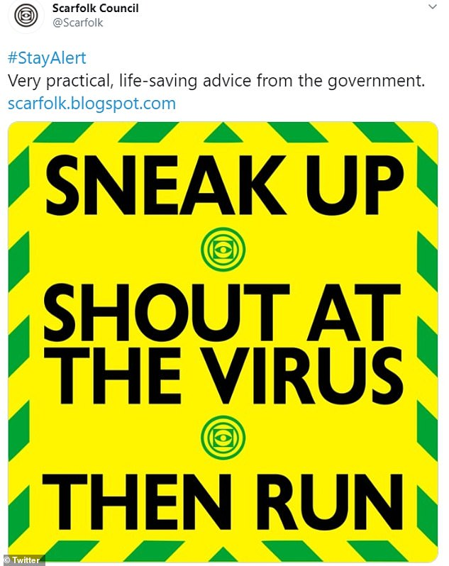'Sneak Up, Shout at the Virus, Then Run': Britons mock ...