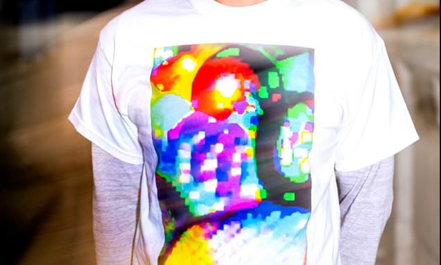 Researchers create t-shirt graphic design that promises to disrupt facial recognition cameras without using a mask…