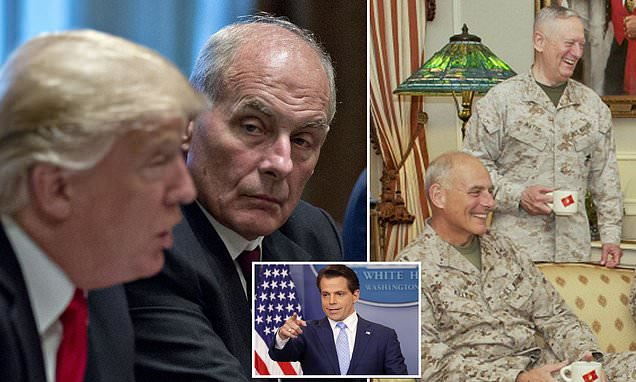 Is John Kelly joining the generals' mutiny? Former chief of staff calls Donald Trump 'nasty' and 'confused' over attack on Jim Mattis – and lines-up interview with Trump-hating Mooch…