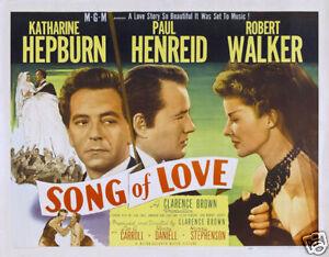 Song of love Katharine Hepburn vintage movie poster | eBay