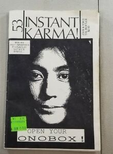 VINTAGE BOOK INSTANT KARMA ISSUE NO 53 JOHN & YOKO AND THE ...
