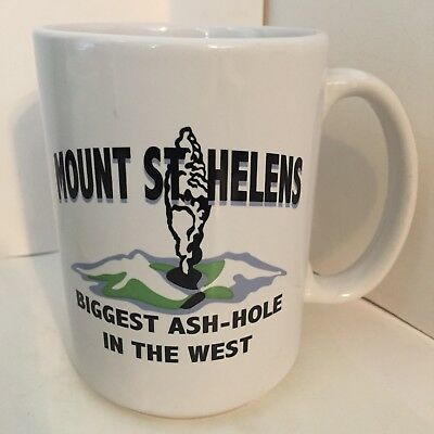 MOUNT ST. HELENS - BIGGEST ASH-HOLE IN THE WEST Souvenir 16 oz Coffee Mug Cup | eBay