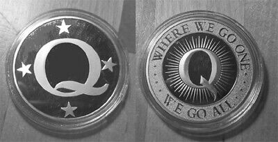 Qanon - Q Anon Coin - Where We Go One, We Go All Silver ...