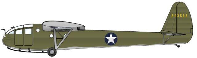 CG-3 USA Waco Military Glider Airplane Wood Model Replica