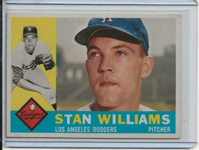 1960 Topps Baseball Card Stan Williams Pitcher Los Angeles ...