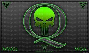 Q ANON Fabric Poster Banner Flag 3' X 5' qanon Punisher ...