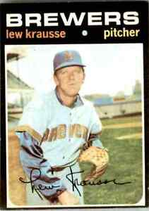 1971 Topps Jvb422 Lew Krausse Milwaukee Brewers #372 | eBay