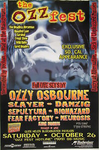 OZZFEST 1996 LOS ANGELES CONCERT POSTER:Ozzy Osbourne ...