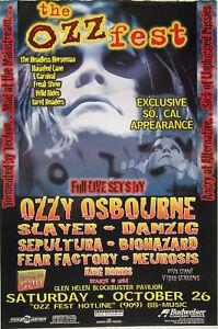 OZZFEST 1996 LOS ANGELES CONCERT POSTER:Ozzy Osbourne ...