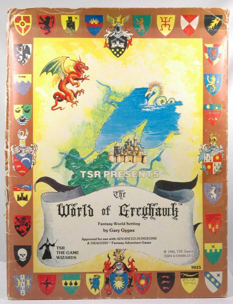 World of Greyhawk Folio Edition 1st Printing TSR 1980 Gary ...