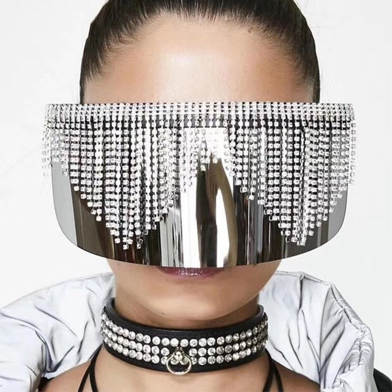 Made to Order Rhinestone Oversized Goggles / Face Shield ...