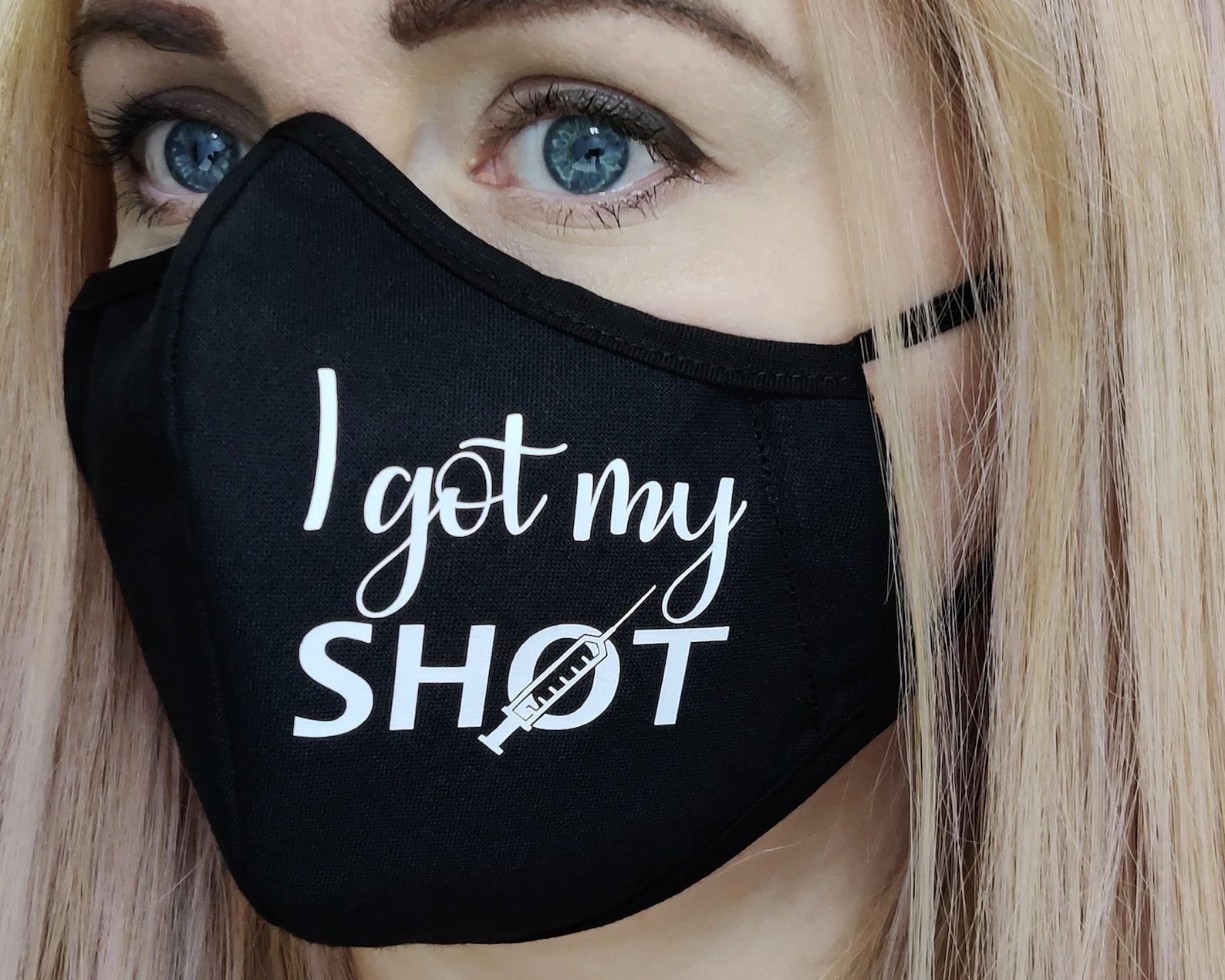 I Got My Shot Face Masks Vaccinated Masks Covid Shot Face ...