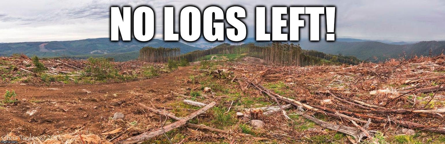 no logs left - Imgflip