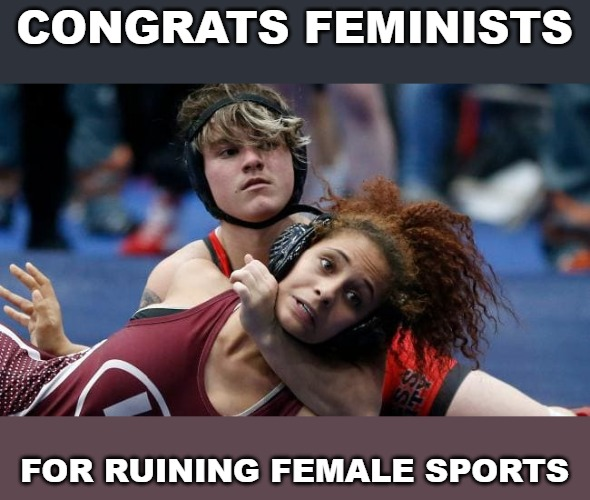 Image tagged in memes,transgender athletes,transgender,trans,tranny,mental patient - Imgflip