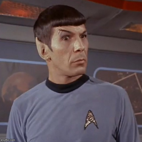 Puzzled Spock - Imgflip