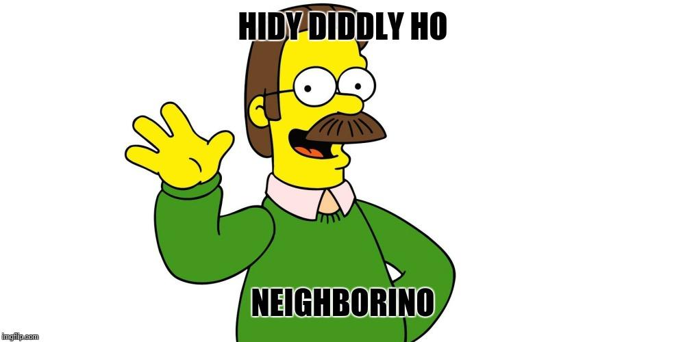 Ned Flanders Wave - Imgflip