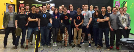 A group photo of the DuckDuckGo staff.