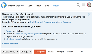 Screenshot of DuckDuckHack forum