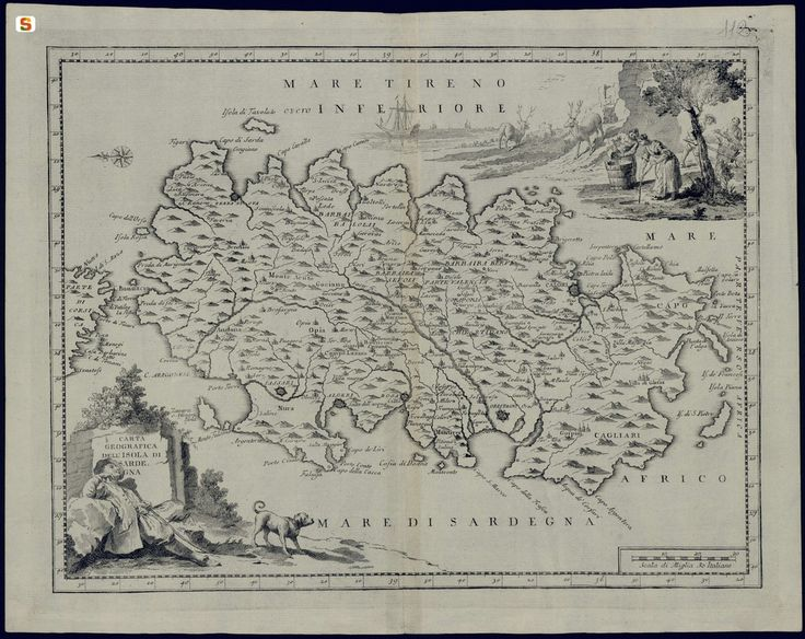 Immagini - Dimensioni diverse   Mappe d'epoca, Sardegna ...