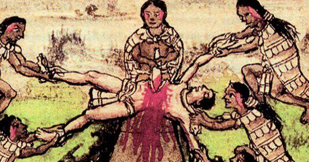 10 Horrors Of Aztec Ritual Human Sacrifice - Listverse | Aztec art, Aztec civilization, Ancient ...