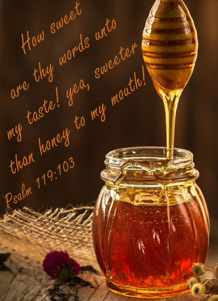 Psalm 119:103 (KJV) How sweet are thy words unto my taste ...