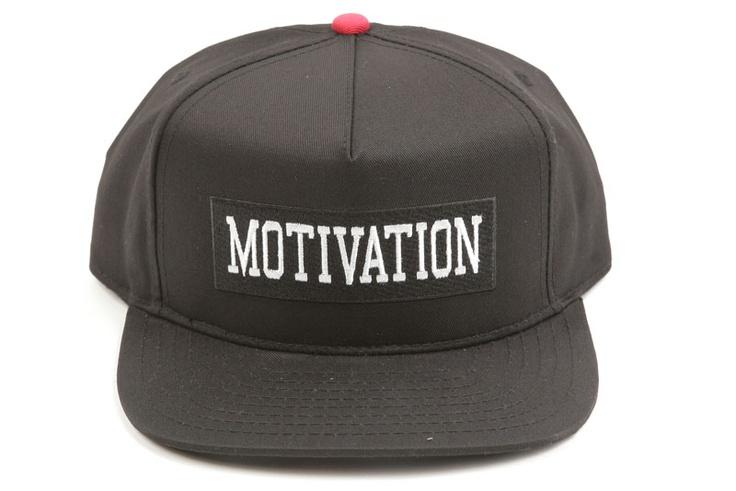MOTIVATION | COLLEGIATE SNAPBACK HAT | BLACK | $45.00 ...