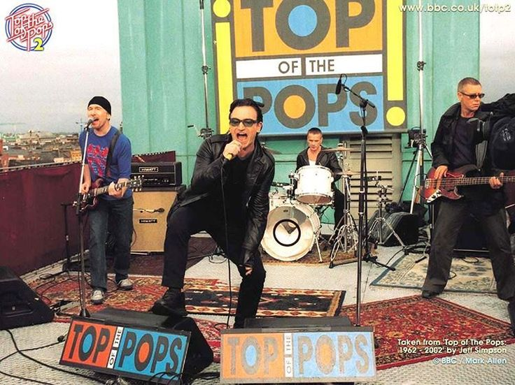 Today in 2000 #U2 go and perform on the top of the ...