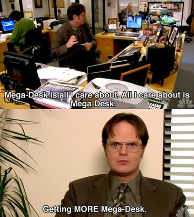 Dwight Schrute and his Mega Desk #megadesk (With images ...