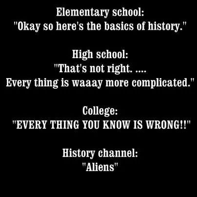 Everything you learn as you grow up lol | History humor ...