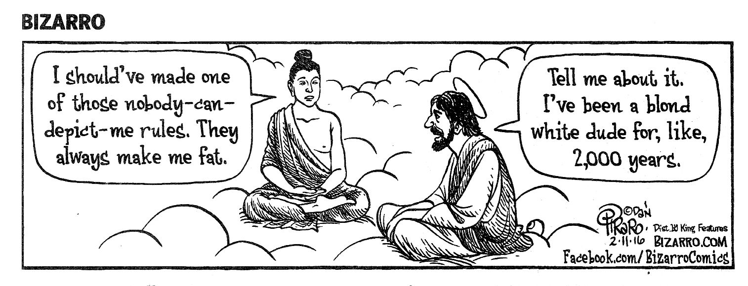 Bizarro - Buddha and Jesus | History cartoon, Art history ...