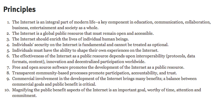 Mozilla Principles | Brand manifesto, Communication