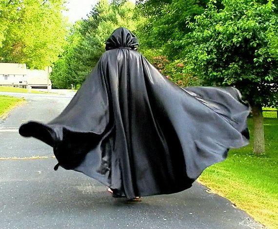 Windy cloak   Satin cape, Rain wear, Cloak