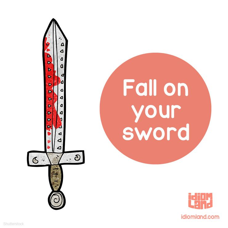 Idiom of the day: Fall on your sword Meaning: To take full responsibility for a negative ...
