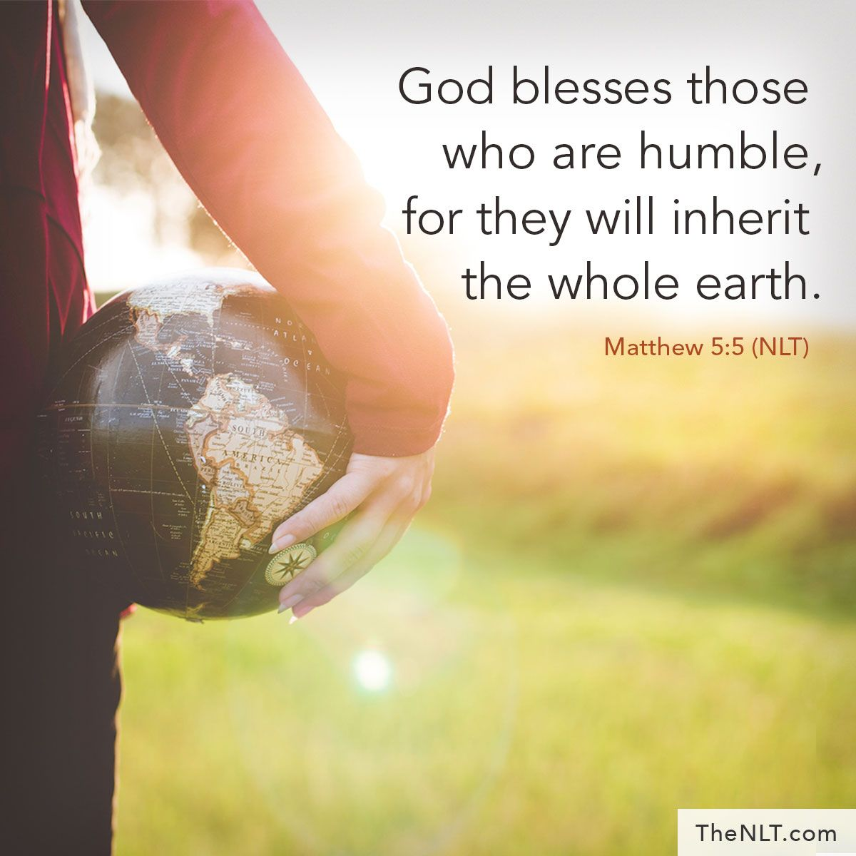 God blesses those who are humble, for they will inherit ...