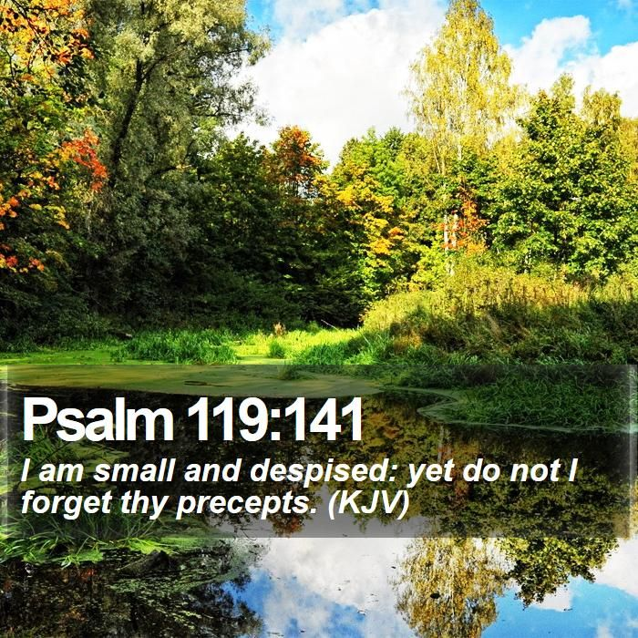 Psalm 119:141 I am small and despised: yet do not I forget ...
