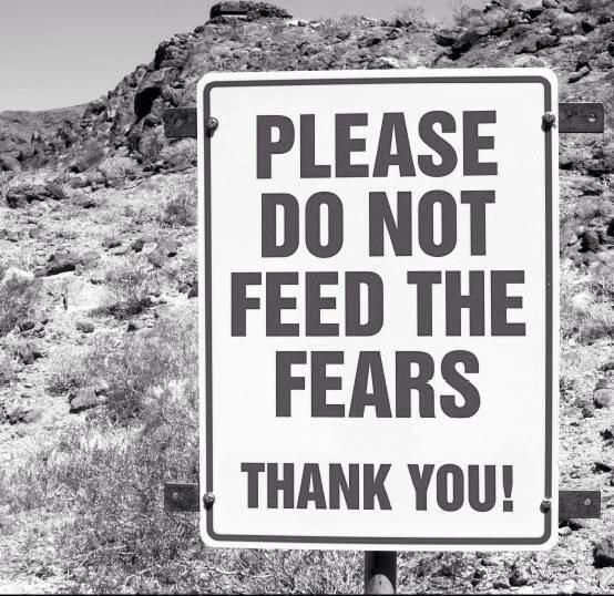 Please don't feed the fears! | Words, Signs, Motivation