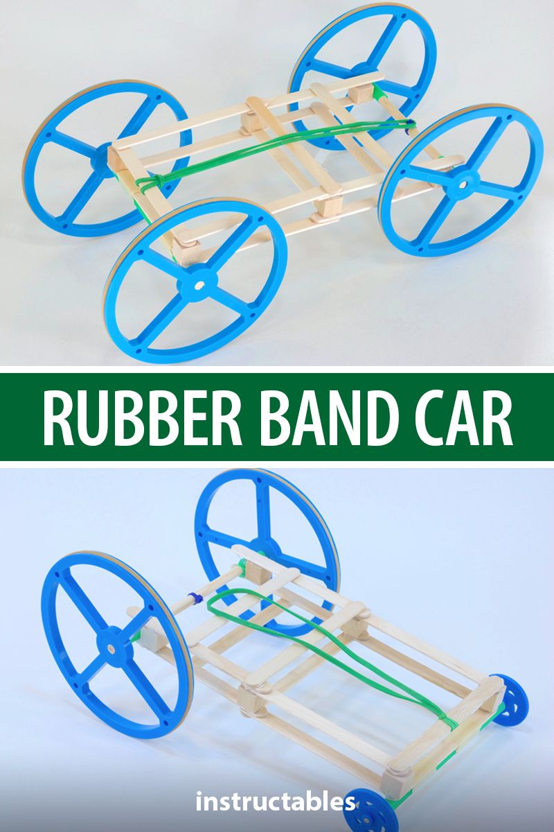 The Best Rubber Band Car | Rubber band car, Rubber bands ...
