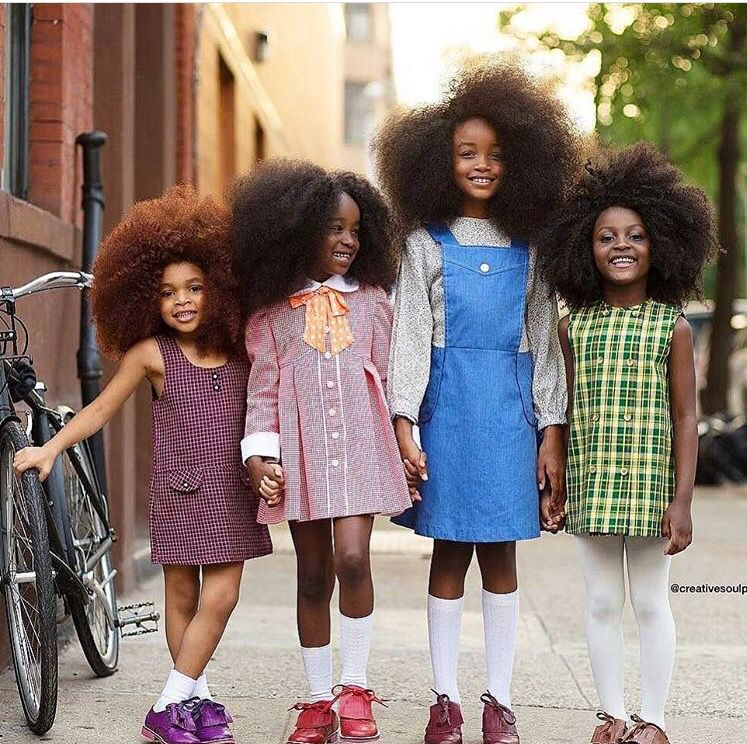 Cute little black girls with beautiful 1970s afros ...