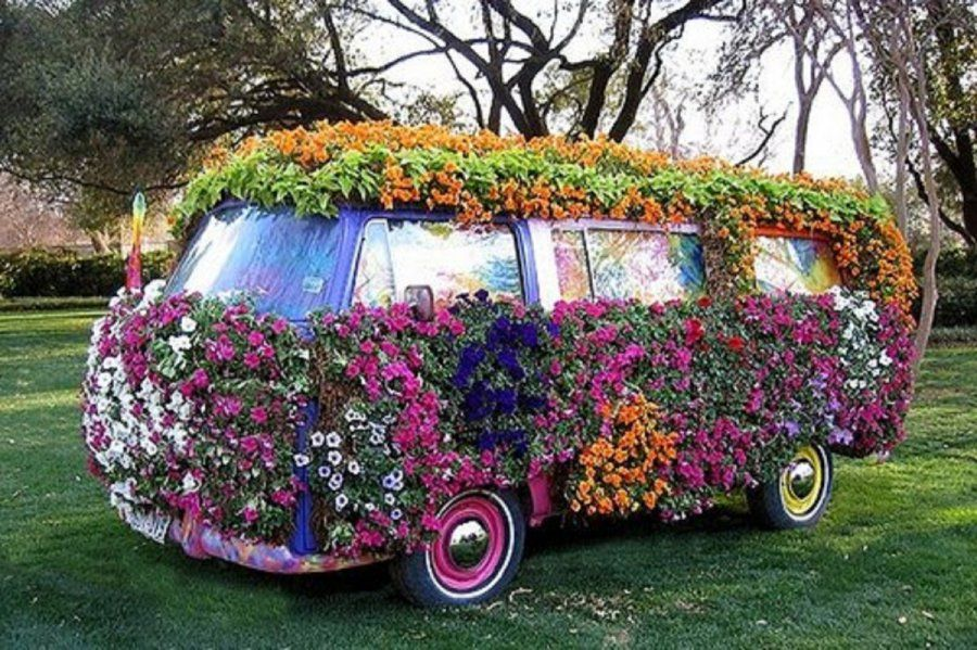 Camping-car insolite ! Flower Power / VAN VW | «pouvoir ...