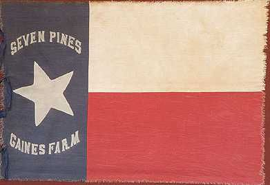 "Hood's Texas Brigade ""SEVEN PINES"" flag 1st Texas Regiment ..."