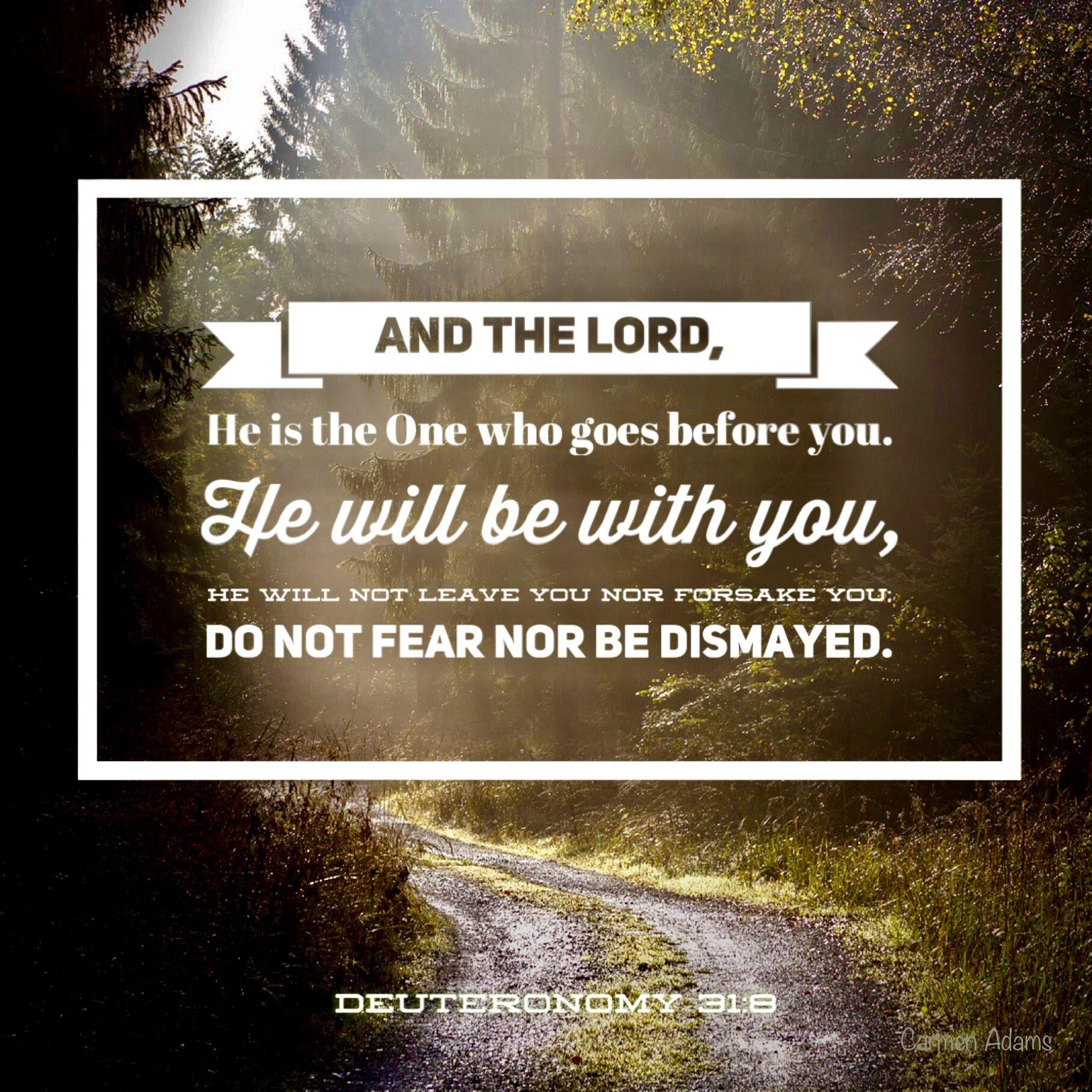 Deuteronomy 31:8 #bible in 2020 | Deuteronomy 31 ...