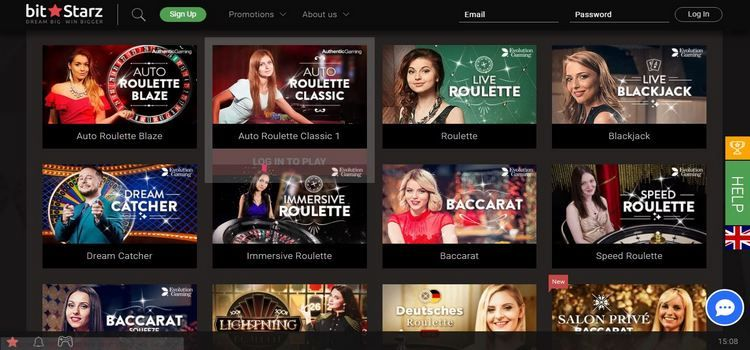 BTC live casino Bitstarz offers the best live dealer games